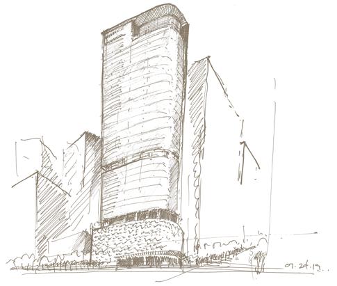 830 Brickell Sketch