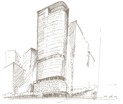 830 Brickell Sketch