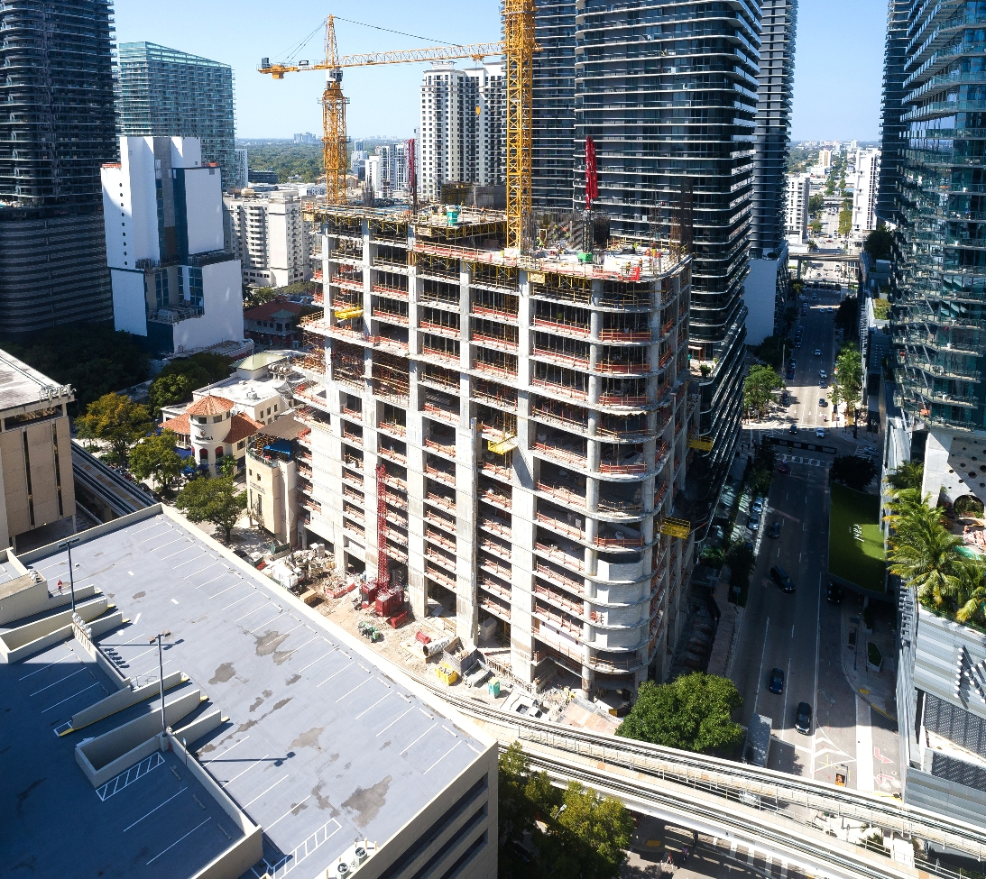 57-story Brickell office tower in Miami surpasses 22nd Floor