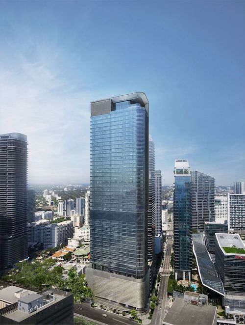 Photo: Construction Continues At 830 Brickell, Set To Become Miami's Second Tallest Office Tower